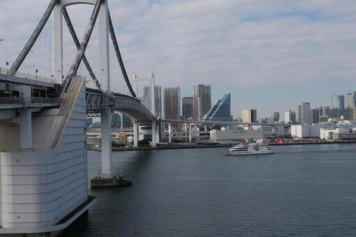 Passenger boat and Rainbow Bridge