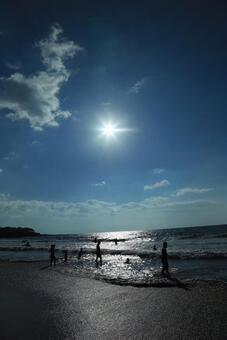 하와이 한낮의 해변