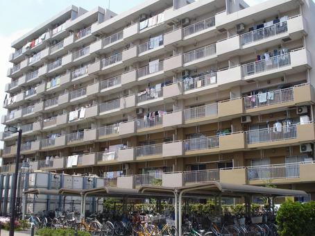 Condominium with bicycle parking lot