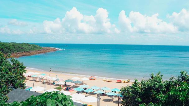 Summer image beach tropical resort