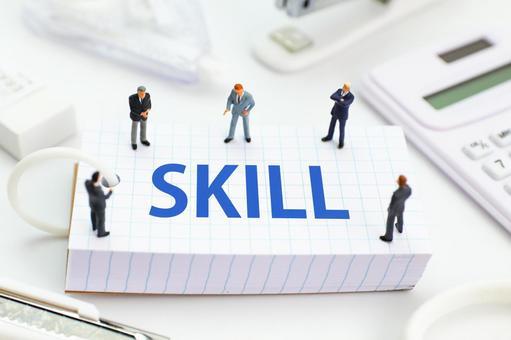 Men discussing skills
