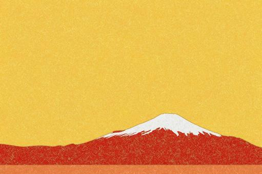 Red Fuji for New Year's cards-PSD