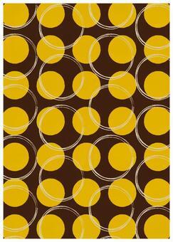 Scandinavian design big dot yellow