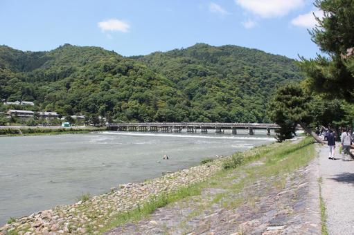 Kyoto Arashiyama Togetsu Bridge