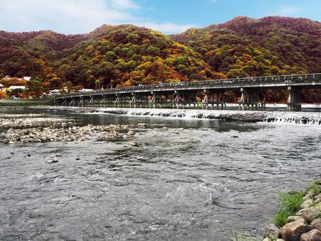 Autumn leaves of Arashiyama, Kyoto Togetsukyo