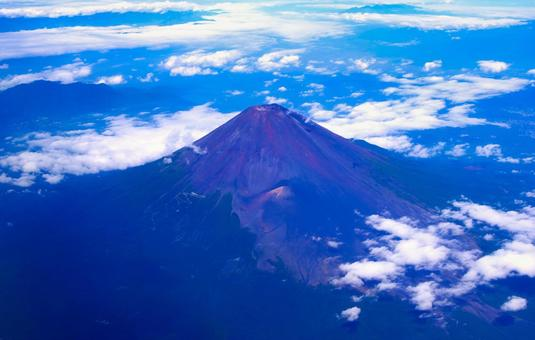 Mt. Fuji seen from an airplane