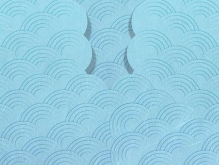 Summer Japanese sea wave craft Japanese paper