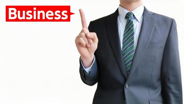 Business people and business points