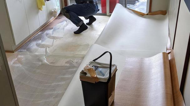 Interior work Floor Cushion floor Craftsman