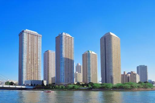 High-rise apartment along the river