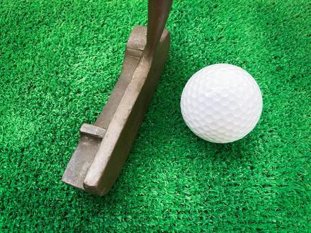 Golf club / Golf practice / Golf ball / Artificial turf / Putter practice / Sports
