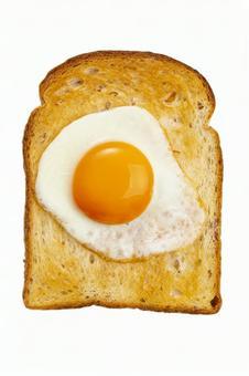 토스트와 계란 후라이 자르기 PSD