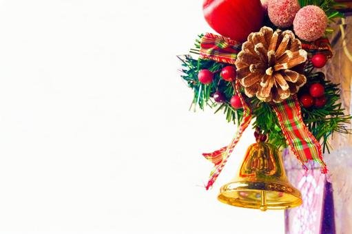 Christmas decoration bell white background