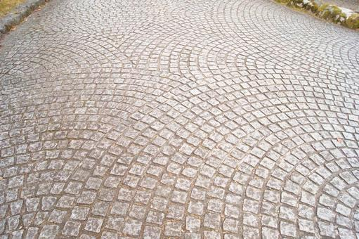 Paving stone street