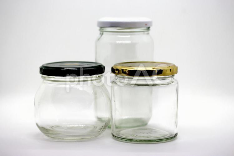 ガラス瓶 空き瓶の写真