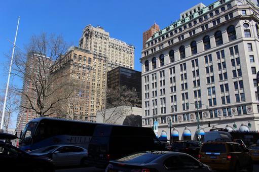 뉴욕의 빌딩과 정체