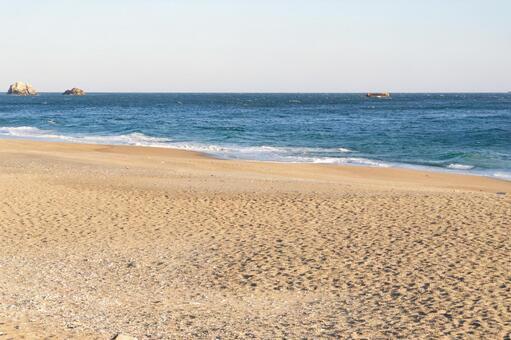 겨울의 연애가 바닷가