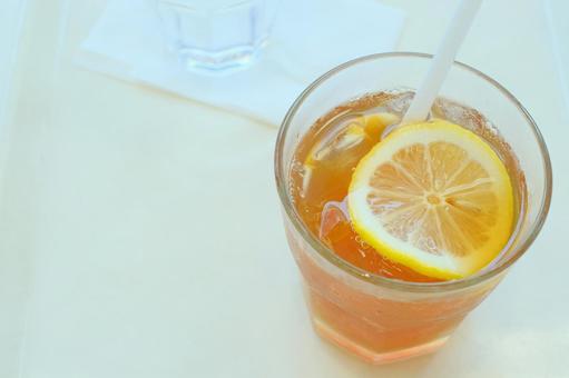 Take a break with iced lemon tea