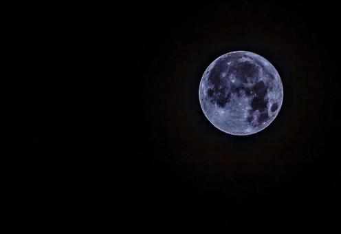 Full moon on November 1, 2020