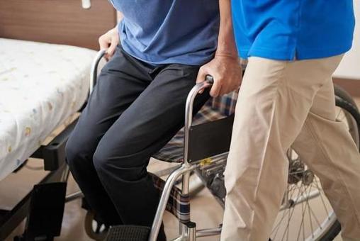 Caregiver helping the elderly