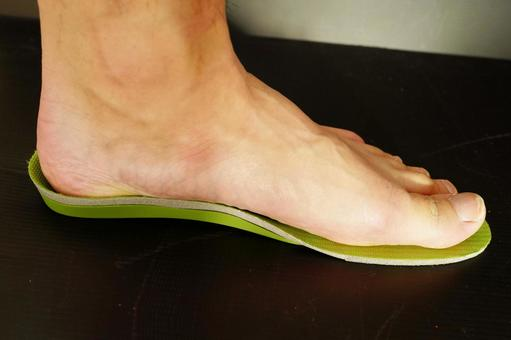 Feet on the insole