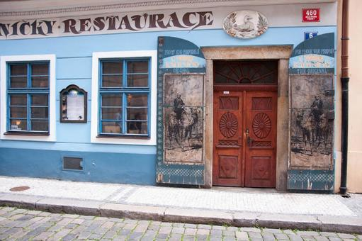 Streets of the Czech Republic Painted wall restaurant
