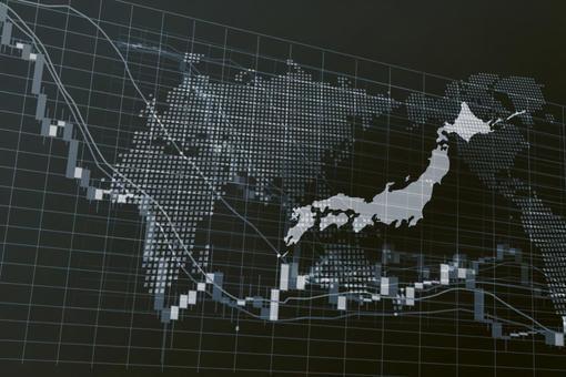 日本單調數字股票圖表圖像