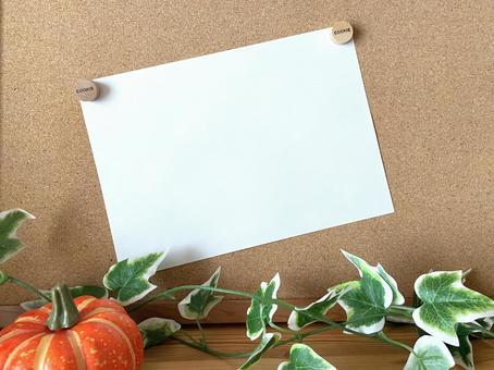 Autumn cork board