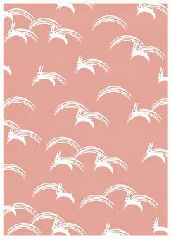 Japanese Pattern Texture Rabbit Pink