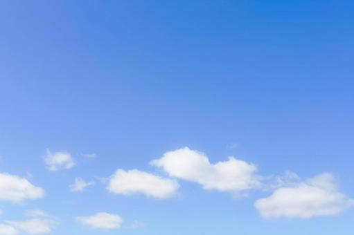Blue sky and white cloud texture 1