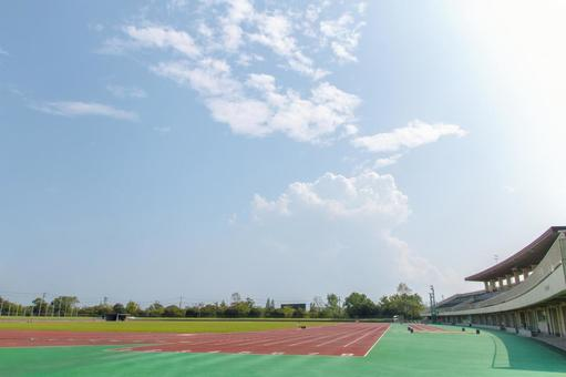 Track at Asamakuen General Track and Field Stadium in Ogaki-shi