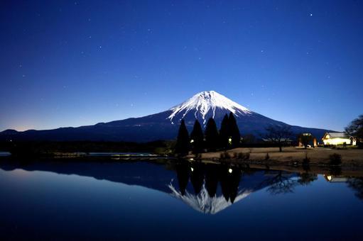 Mt. Fuji from Lake Tanuki
