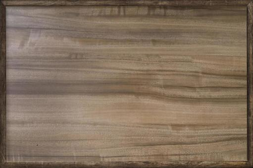 Natural wood grain board with wooden frame