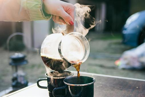 Coffee in the camp