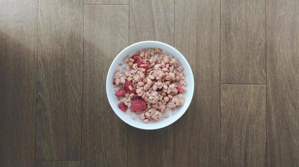 Granola strawberry