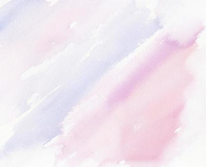 Watercolor paint bleed-pink to lavender