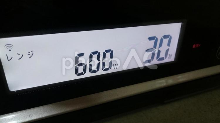 電子レンジ600wで30秒の写真