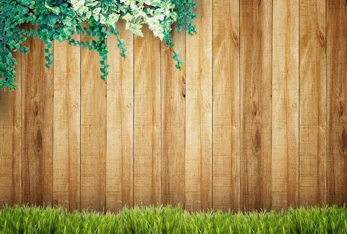 Garden plank wall background 2