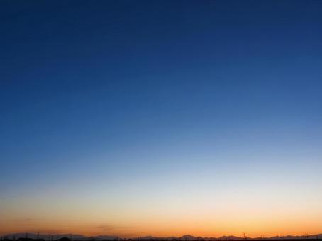 日落的天空