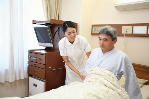 Nurse and male patient 4