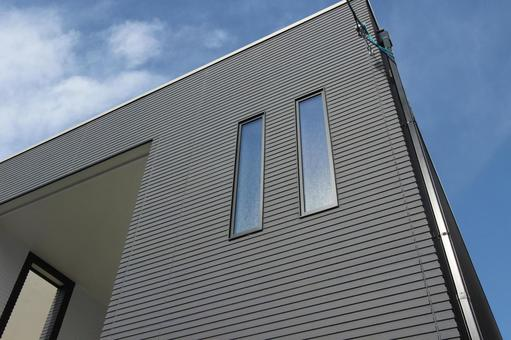 Exterior wall of a detached house
