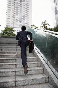 Running businessman 2