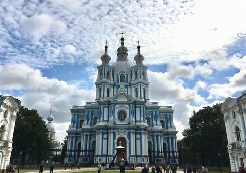 스모리누이 성당, 상트 페테르부르크, 러시아.