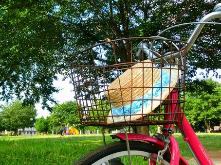Bicycle and Straw Hat