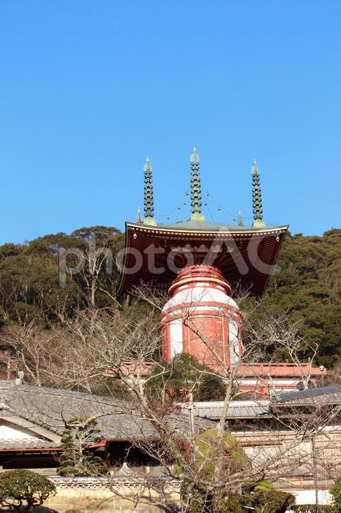 四国霊場第二十三番札所 薬王寺 瑜祇塔 遠景の写真