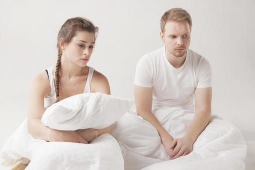 A couple fighting in bed 11