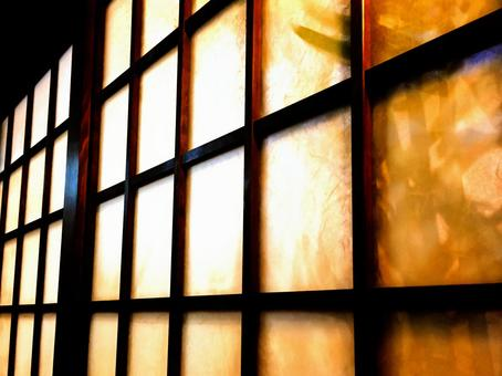 Japanese space with shoji