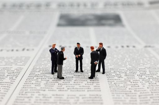 Meeting Businessman Meeting Miniature