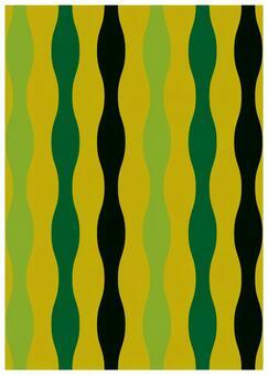 Scandinavian design wavy line green