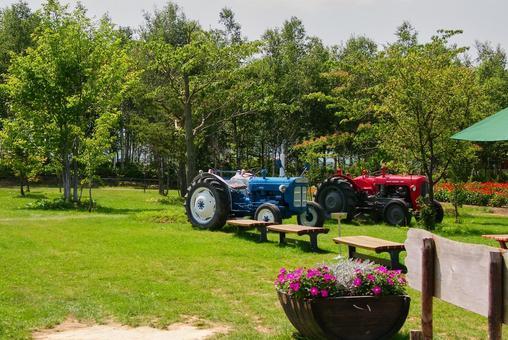 북국의 농장과 트랙터